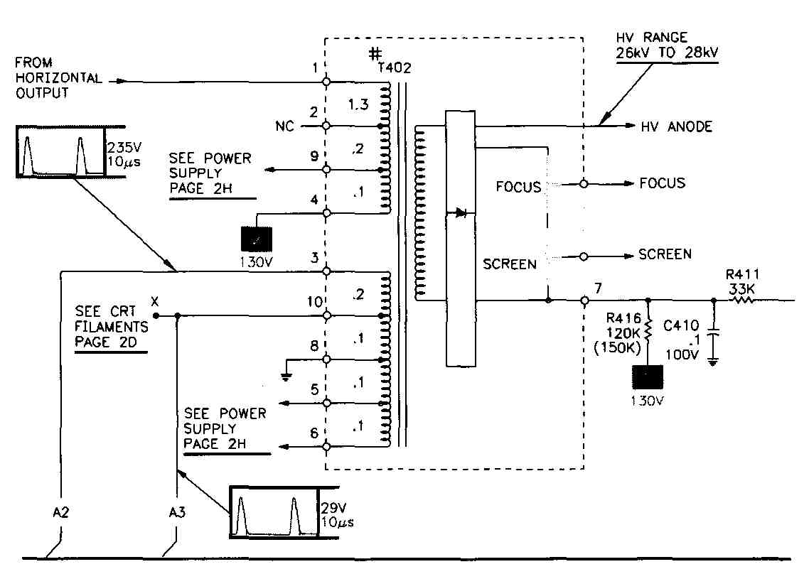 Reading Television Schematics Crt Monitor Diagram Fig 21 A High Voltage Power Supply Circuit