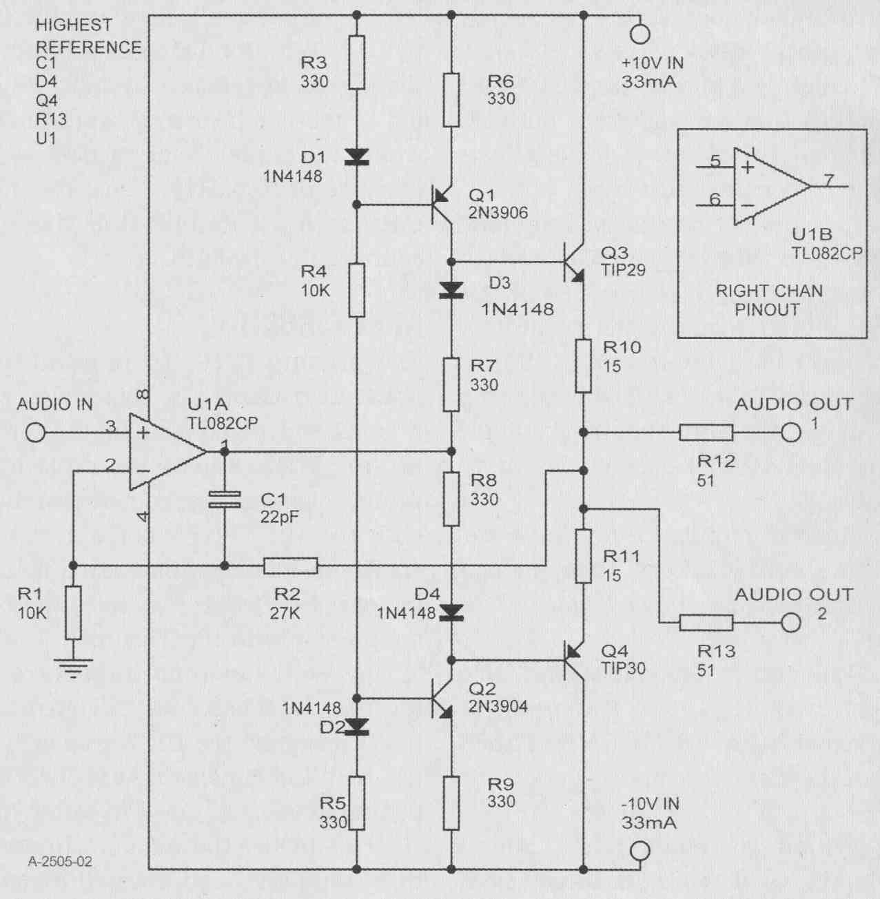 Purist Recording Mixer A High Performance Mike Preamp Monitor Cl 1 Wiring Diagram Figure 2 Headphone Amp
