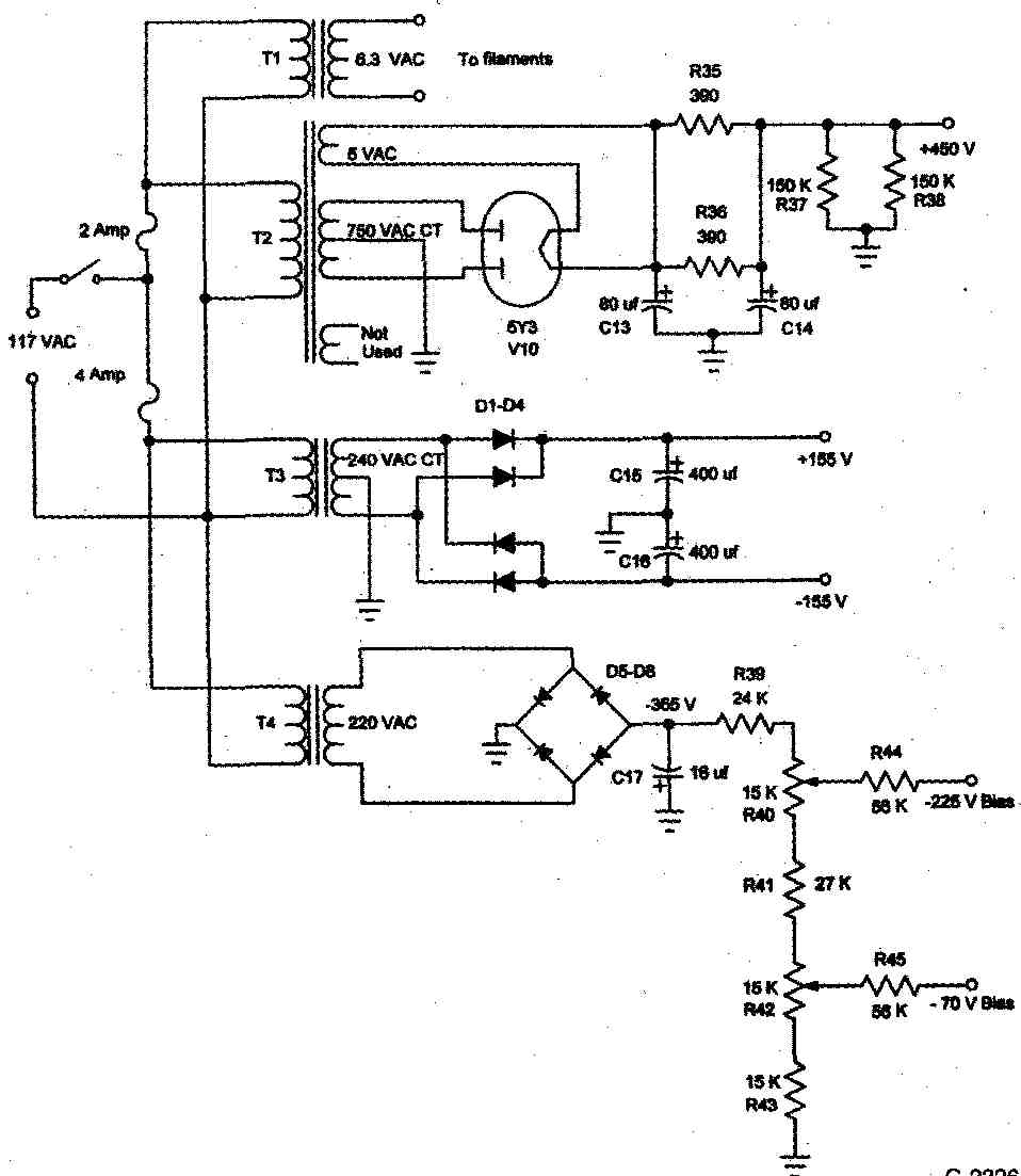Saga Of A Tube Otl Amplifier Power Circuit Diagram And Supply Schematic 5 Latest Modification