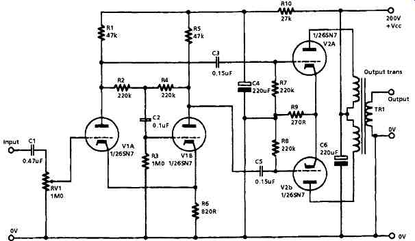 tube audio amplifier layouts