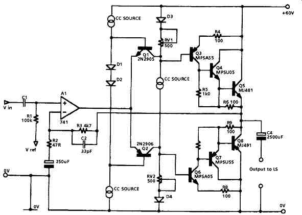 early solid state audio amplifier designs